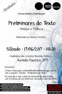 Oficina Preliminares do Texto - Martins Fontes - Junho 2017